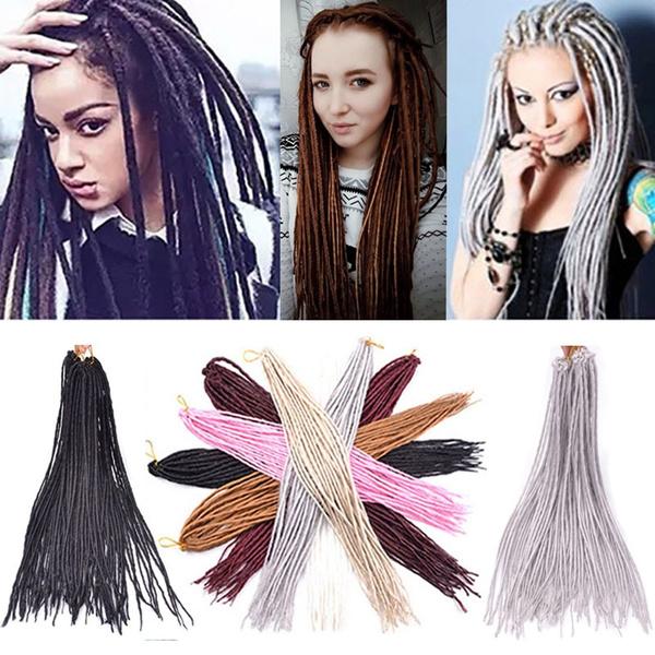 Fashion Icon Long Straicht Crochet Twist Braiding Hair Dread Locks  Synthetic Hair Extensions