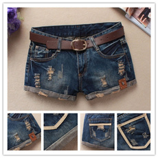 Summer, Shorts, Women jeans, Denim