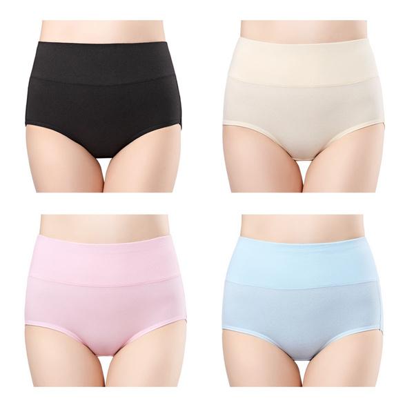 73ee46780c wirarpa Womens Cotton Underwear 4 Pack High Waist Briefs Tummy ...