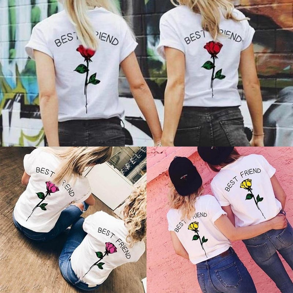 e910d395fe New BEST FRIEND Couples Shirts Matching Couple T-shirts BFF Tshirts ...