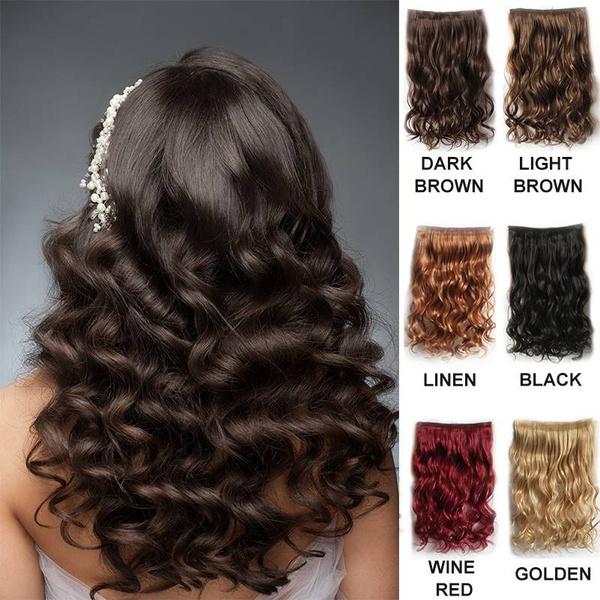 Wish Women Silky Soft Fashion Full Head Clip In Hair Extensions