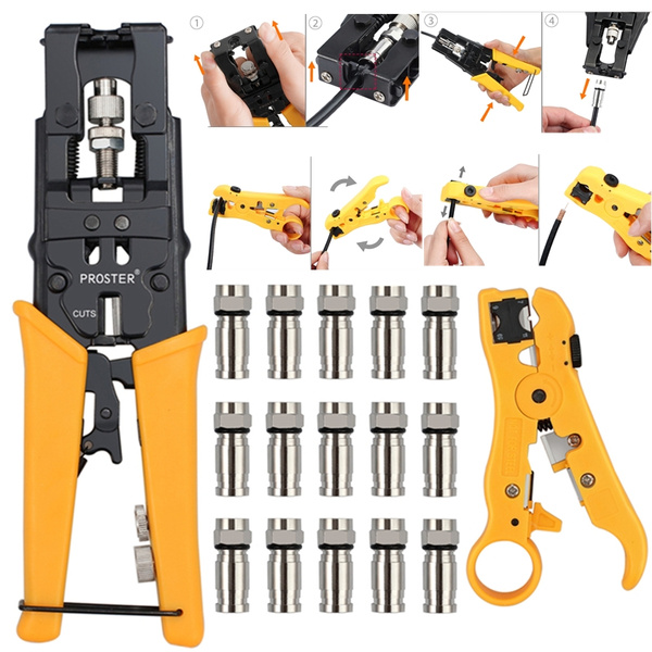 Wish | TU-230PA Locking Ratchet Crimping Press Pliers Crimper Clamps Tools for BNC Connector