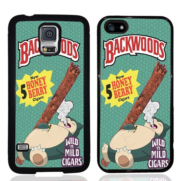 online store 74686 d91e2 Pokemon Snorlax Backwoods Cigar iPhone 4 5 6 7s plus 8 x case Samsung  Galaxy S6 S7 S8 cover