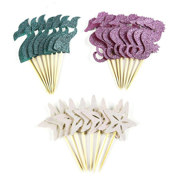 Shower, cakepick, seahorse, cakedecor