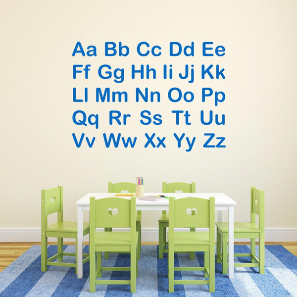 Alphabet Letters Wall Stickers For Kids Room Nurdery Classroom Wall Decorations Bedroom Baby Wall Decals Letter Mural