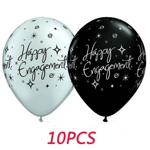 10PC 10 Inch Latex Happy Engagement Baloons Party Decorations Wedding Supplies