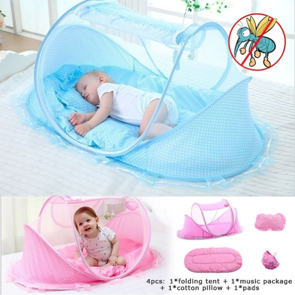 Baby Infant Portable Foldable Mosquito Tent Travel Infant Bed Crib For 0-3 Years