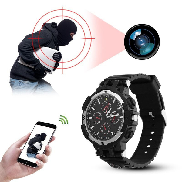 Wish | DIY 16GB 720P HD Wrist Watch Hidden Wifi Camera Spy Video
