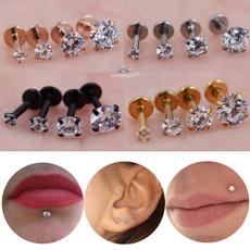 Steel, lippiercing, Jewelry, gold