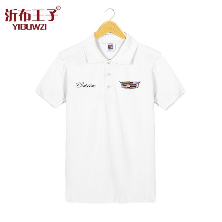 Summer Men S Fashion Cadillac Short Sleeved T Shirt Cotton Lapel