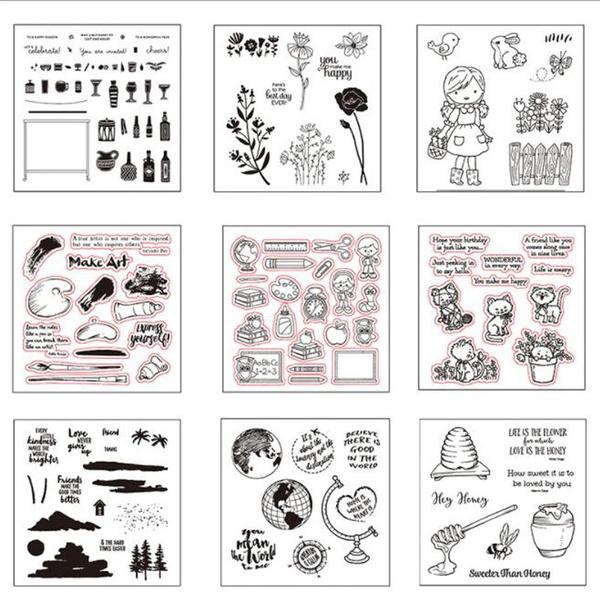 Silicone Clear Rubber Stamps Seal DIY Scrapbook Album Card Diary Craft Decor