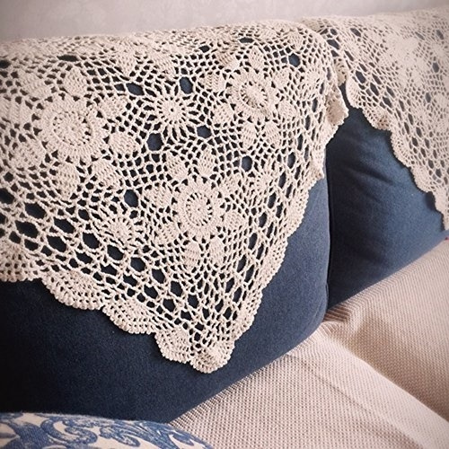 Chic Handmade Crochet Cotton Doily Beige