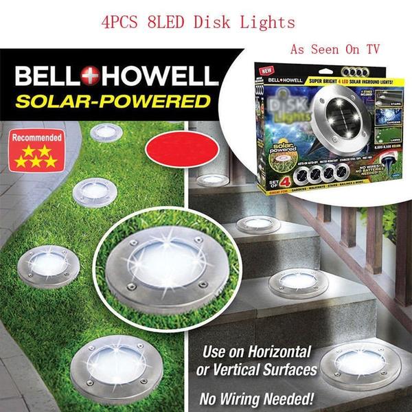 Bell Howell Disk Lights Solar Ed 8