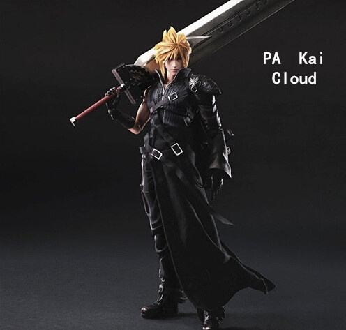 Anime Final Fantasy Action Figure Play Arts Kai Cloud Strife Collection Model Toy Play Art Final Fantasy Cloud Strife Playarts Doll