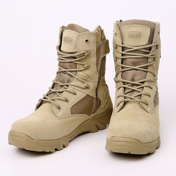 537729d16b0 Delta Brand Military Tactical Boots Desert Combat Outdoor Army Hiking Shoes  Travel Botas Shoes Leather Autumn Male Ankle Boots Italian Shoes Cute ...