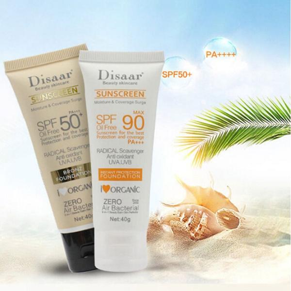 New Fashion Women Summer Waterproof Sunscreen SPF50+ SPF90++ Lotion  Intensive UV Sunblock Cream Moisturizing Face Body Skin Care