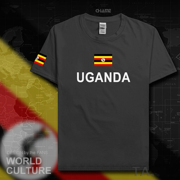 Uganda Ugandan Men T Shirts Fashion 2018jerseys Team Nation 100 Cotton T Shirt Gyms Clothing Tees Country Sporting Flags Uga G Wish
