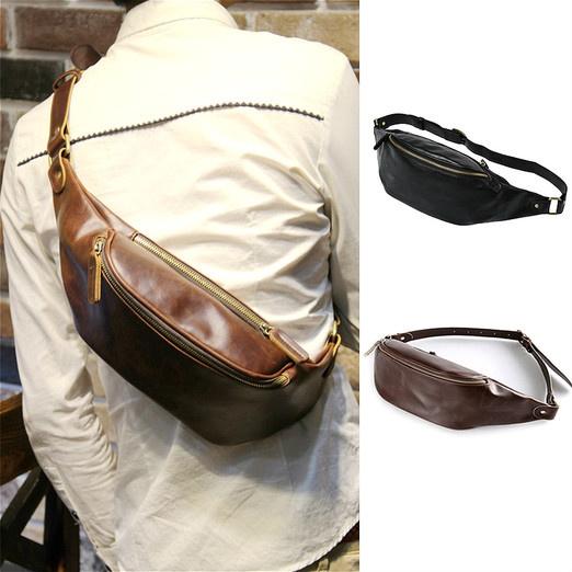 83007f567 Sling Bag, Charminer Leather Chest Bag Crossbody Shoulder Business ...