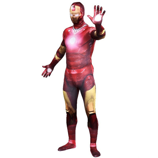 Wish Adult Spandex Iron Man Cosplay Costume Tony Stark Avengers