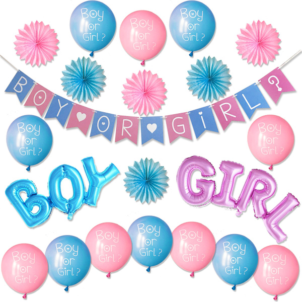 Image result for Gender-Reveal-Party-Supplies-Kit