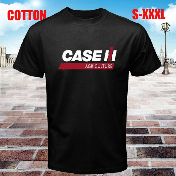New Case IH Tractor Agriculture Logo Mens Black T-Shirt