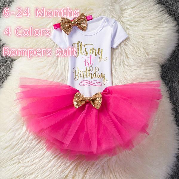 ff10b44d7ad20 My First Birthday Baby Unicorn Dress for Girl Kids Baptism Infant Unicornio  Tulle Costume Summer Princess Outfits Tutu Vestidos