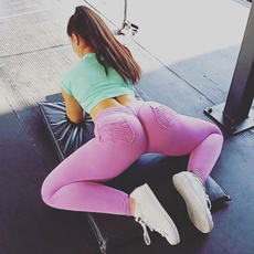 Leggings, solidcolortrouser, Yoga, high waist