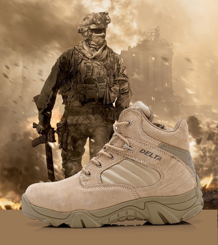 XHRXHG Delta Brand Mens Military Tactical Boots Desert Combat Outdoor Army Travel Tacticos Botas Shoes Leather Autumn Ankle