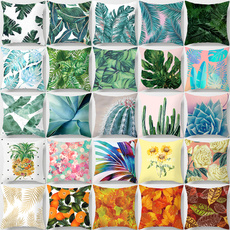 Summer, leaf, Home Decor, greenleafpillowcase