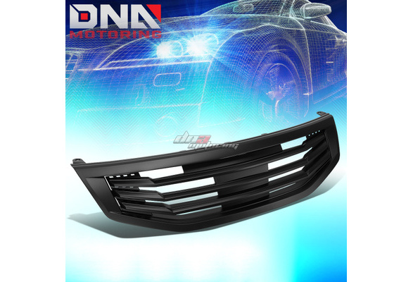 For Honda Accord 4DR Mu Style ABS Plastic Front Grille Black 8th Gen CP CS Pre-Facelift