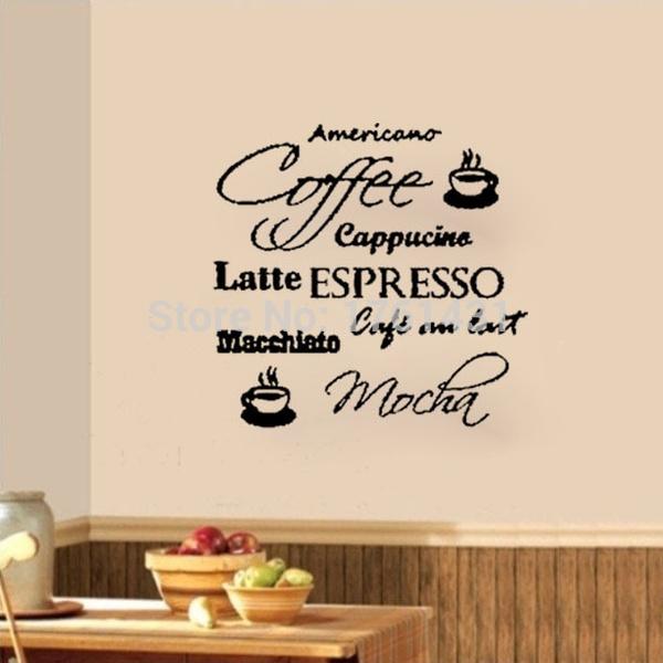 Coffee Cafe Cucino Latte Mocha Wall