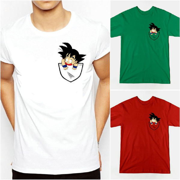 82cd36ad Dragon Ball T Shirt Men Summer Dragon Ball Z Super Son Goku Slim Fit ...