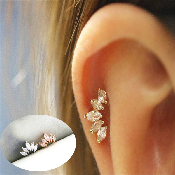 Cartilage Stud Simple Tragus Earring