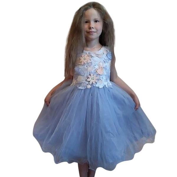 Wish | kleinkind kinder mädchen hochzeit blume kleid spitzen ...