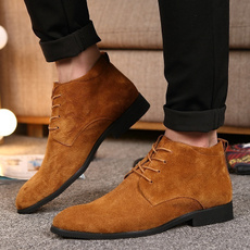 ankle boots, genuinesuede, autumnwinter, leather