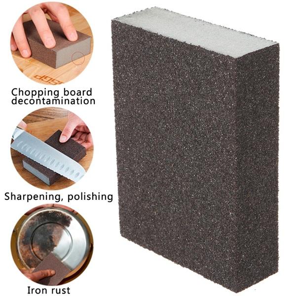 Sanding Block Girt Sponge Polishing Pad Furniture Buffing Sandpaper 120 Grit