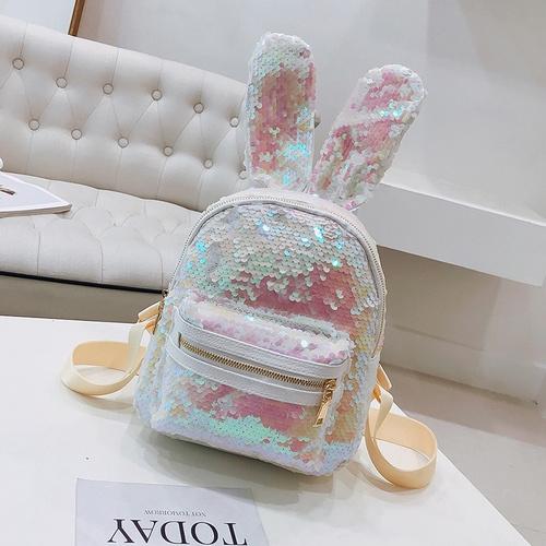 b78a910e565f Shinning Bling Sequins Cute Big Rabbit Ears Backpack for Teenager Girls  mochila Shoulderbag Women Mini Travel cute Bag escolar