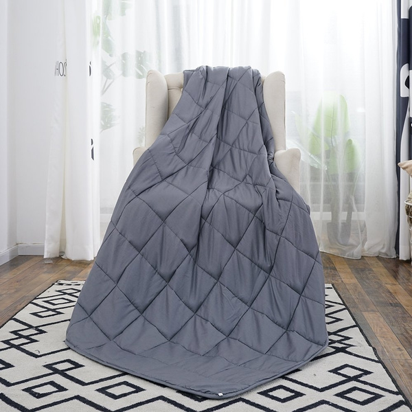 Weighted Blanket for Adults by Buzio(15 lbs for 100-150 lbs  Persons),Perfect for Relaxation, Fall Asleep Faster and Better, Reduce  Stress and