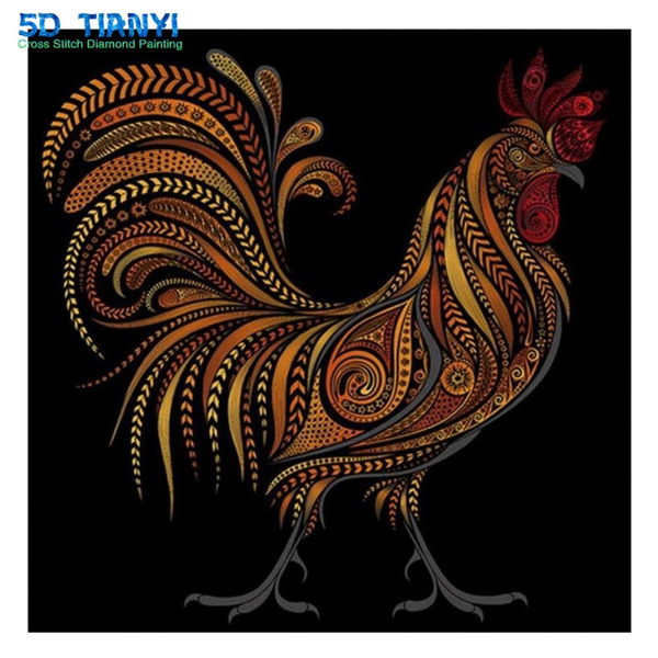 DIY 5D painting cock chicken Home Decor Art Cross Stitch Kit Diamond Embroidery