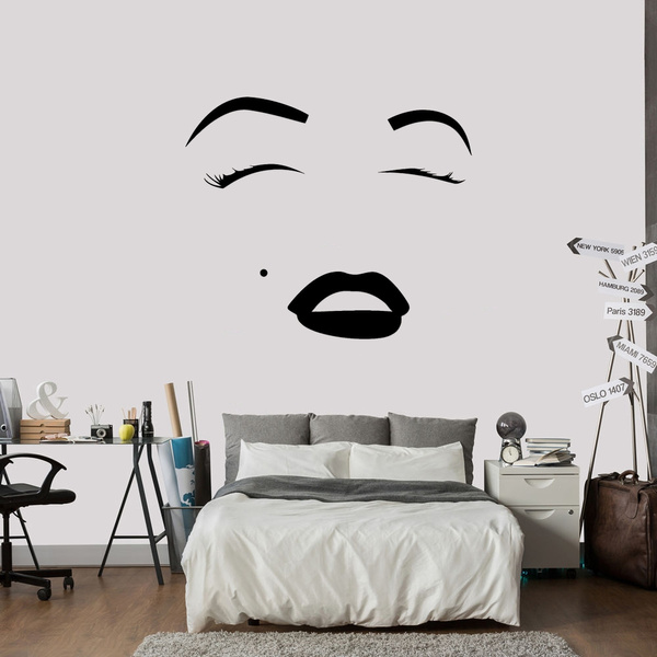 Wall Stickers Beauty Salon Face Girl Make Up Bedroom Art Decals Vinyl Home Room