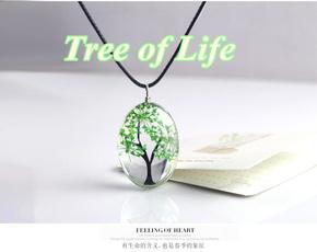 amber, Jewelry, handmadeglassplantnecklace, resinnecklace