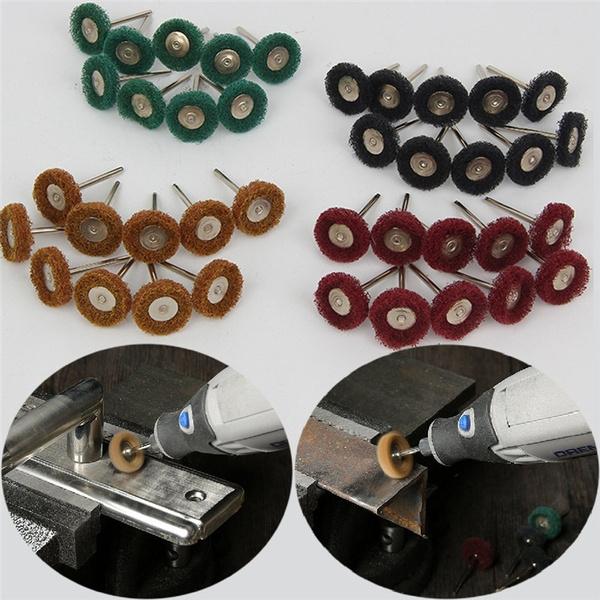 40pcs Abrasive Nylon Fiber Grinding Sanding Head Buffing Polishing Wheel  Buffing Polishing Wheel Set For Dremel Rotary Tool (25mm)