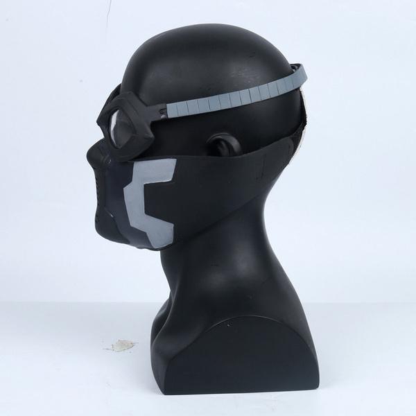 Captain America Winter Soldier Bucky Barnes Cosplay Masks Eyeglasses PVC  Goggles