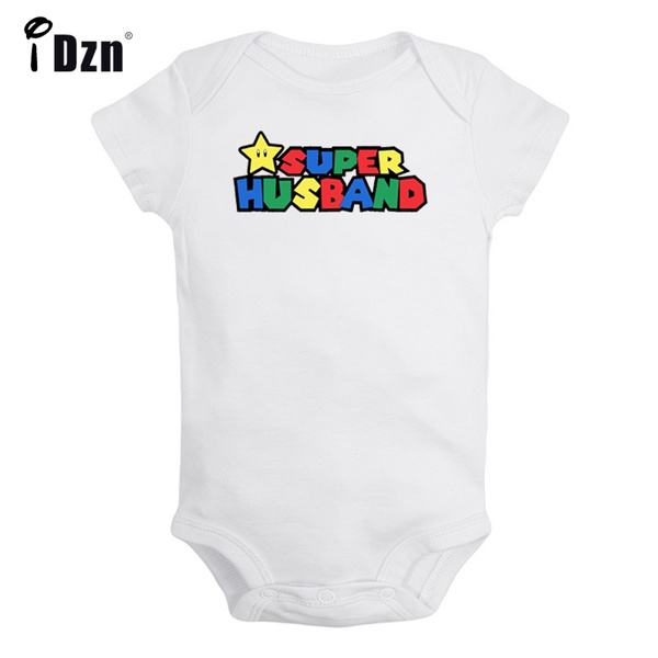 fc44e840d00e Super husband Super Mario Number Pattern Newborn Infant Baby Boys Girls  Cotton Rompers Jumpsuit Bodysuit Outfits Onesies