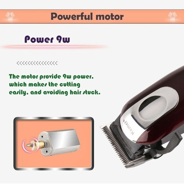 Wish | 2018 Fashion Kemei Professional Electric Washable Hair Clipper Rechargeable Hair Trimmer Beard Shaver Razor Cordless Adjustable Clipper KM- 2600 ...