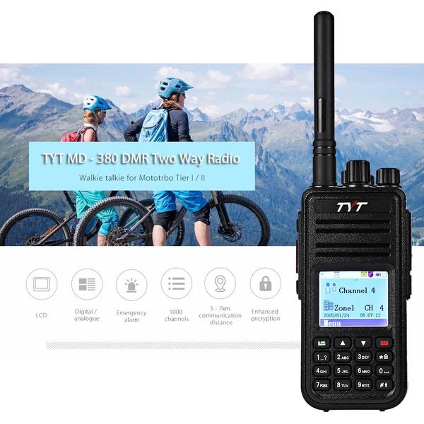 TYT Tytera MD - 380 DMR Portable Walkie Talkie Digital Radio UHF 400 -  480MHz with Colorful LCD Display Essonne