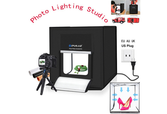 40Cm X 40Cm X 40Cm Size 40Cm Folding Portable 30W 5500K White Light Photo Lighting Studio Shooting Tent Box Kit with 6 Colors Backdrops