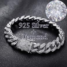 24kgold, Steel, DIAMOND, Chain
