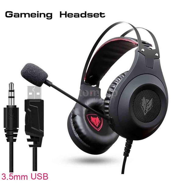 Gaming Headphones NUBWO N2 Stereo Noise Canceling Gaming Headset Gamer  Casque with Microphone for PC Laptop PS4 New XBOX ONE (Black Silver  USB/3 5mm