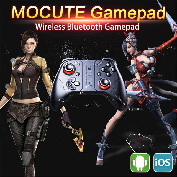 MOCUTE 053 054 VR Game Pad Android Joystick Bluetooth Controller Selfie  Remote Control Gamepad for PC Smart Phone VR BOX Support 3D Glass King Of